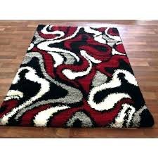 red black grey rug white furniture modern pile cut design area carpet new intended for rugs red black grey rug