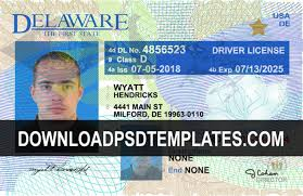 License Template Drivers Psd De Editable fully Delaware