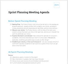 Scrum Meeting Template How To Run A Sprint Planning Meeting Like A Boss Meeting