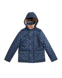 Burberry for Kids & Baby at Neiman Marcus & Charlie Quilted Jacket, Blue, Size 4-14 Adamdwight.com