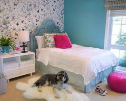Pretty Bedroom Wallpaper Pretty Butterfly Wallpaper With Teal Colored Bed For Inexpensive