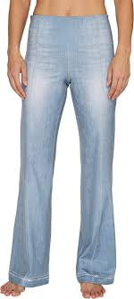 Lucy Womens Indigo Flare Pants At Amazon Womens Clothing Store