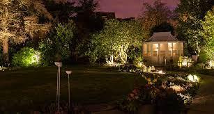 garden lighting design installation