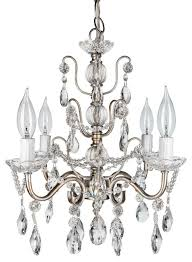 madeleine 4 light chic glass crystal chandelier silver