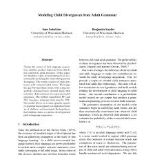 Syntactic Development Chart Modeling Child Divergences From Adult Grammar Acl Anthology