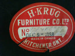 Furniture Kitchener H Krug Furniture Company Meanwhile At The Manse