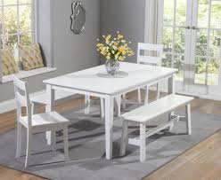 charming diningle with bench and chairs glass breakfast set miami black vegas dining room with