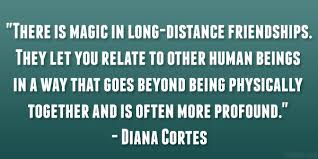 quotes about long distance friendships