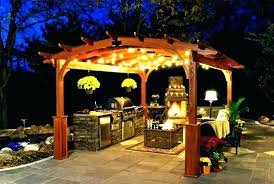 full size of paradise 3 light solar gazebo chandelier black sterno home outdoor lighting patio