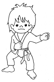 weird karate coloring pages free sports kid page
