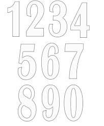 number templates 1 10 free printable number stencils for painting freenumberstencils for