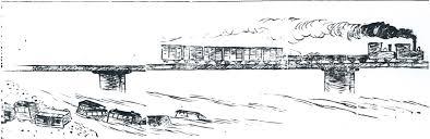 ファイル箒川鉄橋列車転落事故のイラスト 東京朝日新聞 明治32年10月9日