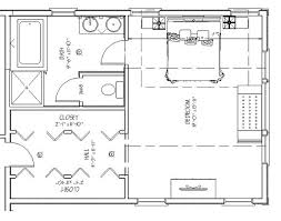 Small Master Bathroom Floor Plans
