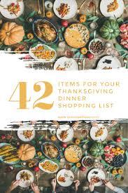 19 thanksgiving dinner menu ideas that go beyond traditional. 42 Items For Your Thanksgiving Dinner Shopping List Toot Sweet 4 Two