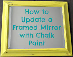 diy painted mirror frame. How To Update A Framed Mirror With Chalk Paint Diy Painted Frame R