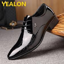product details of yealon formal shoes leather shoes for men leather shoes man shoes leather fashion genuine leather men dress shoes pointed toe bullock