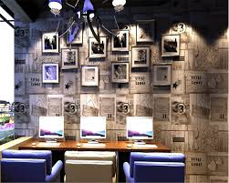 Internet Shop Interior Design Us 34 31 39 Off Beibehang American Style Retro Wood Pvc 3d Wallpaper Mediterranean Coffee Shop Internet Cafe Background Living Room Wall Paper In