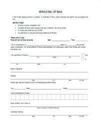 Firearm Bill Of Sale Template Car Purchase Form Vehicle Order Format ...