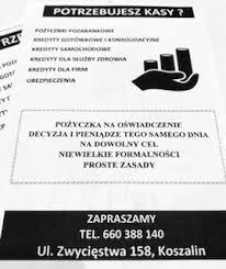 Archiwalne: Szybka gotówka, pożyczki, kredyty Koszalin • OLX.pl