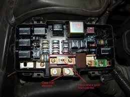 civic 02 honda civic blew fuse after power wire to alternator