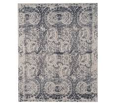 bosworth printed wool rug gray