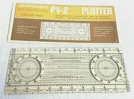 Jeppesen Pv 2 Aviation Chart Plotter No 4401 Determines