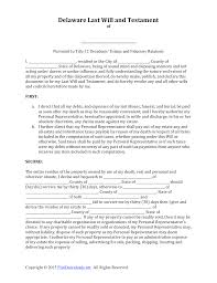 Last Will And Testement Form Download Delaware Last Will And Testament Form PDF RTF Word 6