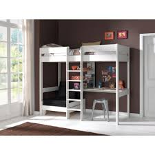 image of loft bed with desk and futon underneath