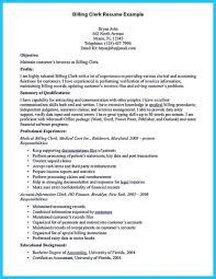 Billing Clerk Job Description For Resume Medical Billing Clerk Resume Krida 14
