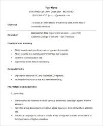 Student Resume Template Free Samples Examples Format Internship For