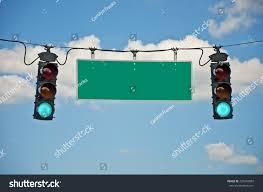 Blank Stop Light Green Traffic Lights Blank Sign Horizontal Stock Photo Edit