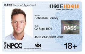 18 standard Age Of Proof Oneid4u Card