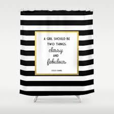 white and black shower curtain. Coco Gold Classy \u0026 Fabulous Print Shower Curtain White And Black