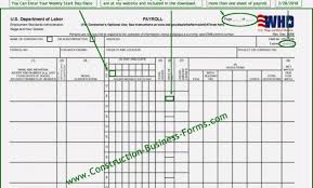 Quickbooks Payrolls Certified Payroll Forms Excel Free Certified