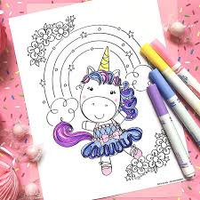 In order to print these disney princess coloring pages, all you need is click on one of the following thumbnails. Cute Unicorn Coloring Pages And Printables 100 Directions