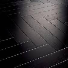 Full house with black hairingbow pattern wood floors