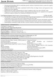 Electrical Engineering Resume Samples Electrical Engineering Cv Barca Fontanacountryinn Com