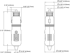 12 volt plug blue sea systems plug dimensioned drawing