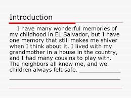 an unforgettable memory essay