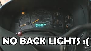 Speedometer Not Lighting Up 2001 Gmc Sierra Instrument Cluster Wont Light Up