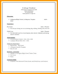 Applicant Resume Sample College Application Resume Templates 6