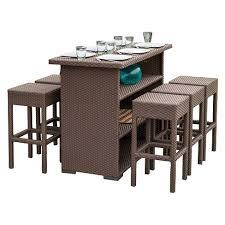 target patio bar set. Interesting Patio Milton 7pc Wicker Patio Bar Set  Brown Christopher Knight Home On Target