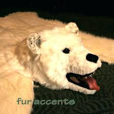 white faux bear rug fake bear skin rug small size of white faux polar bear rug
