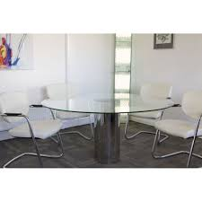 cylinder large round mirror meeting table