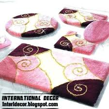 contemporary bathroom rugs bath rug sets pink set modern models contemporary bathroom rugs rug and toilet sets