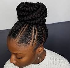 Black Braided Bun Hairstyles Flawless Braided Bun By Narahairbraiding Http