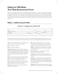 Using The Isa Basic Tree Risk Assessment Form