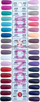 Wave Gel Matching Color Chart Dnd Duo Gel Salon Supply Plus