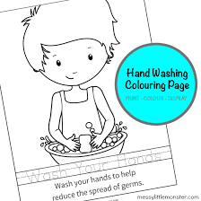 Handwashing is the most effective way to prevent the spread of illness according to the centers for disease control and prevention. Hand Washing Colouring Page Activity For Kids Messy Little Monster