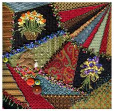 Kelly Clark Needlepoint Handbook: Crazy Quilt is DONE! & Hi All! Crazy Quilt is DONE! Here she is: Adamdwight.com